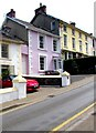 SN3859 : Pink house, Church Street, New Quay by Jaggery