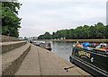 SK5838 : Moored at the Embankment steps by John Sutton