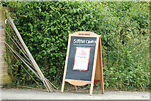 TM3669 : Sibton Church Notice Board by Adrian Cable