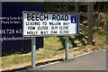 TM3862 : Beech Road sign by Adrian Cable