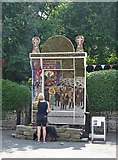 SK2375 : Main well dressing in Stoney Middleton 2018 by Neil Theasby