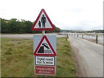 SX6846 : The tidal road at the foot of Stakes Hill by David Smith