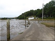 SX6947 : The tidal road to North Efford by David Smith