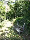 SX6744 : Seat by path in Stiddicombe Wood by David Smith
