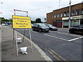 H4572 : Road closed sign, Drumragh Avenue, Omagh by Kenneth  Allen