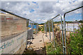 SK3417 : Footpath crossing a housing construction site, Ashby by Oliver Mills