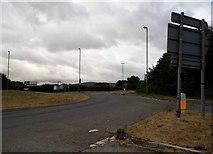 SO7402 : Roundabout on the A38, Slimbridge by David Howard