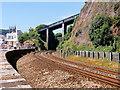 SX9473 : Eastcliff Walk Bridge Crossing the Railway at Teignmouth by David Dixon