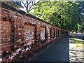 SE3221 : Brick wall, Margaret Road, Wakefield by Robin Stott