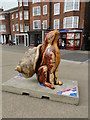 TG5207 : Another of those crazy painted hare things; Haremit by Adrian S Pye