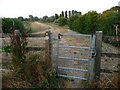 SK0916 : Diverted public footpath from High Bridge to Pipe Ridware by Christine Johnstone