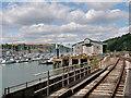 SX8851 : Dartmouth Steam Railway, Waterhead Viaduct and Hoodown Depot by David Dixon