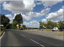 TL8526 : B1024 Colne Road & Elson Car Wash by Adrian Cable