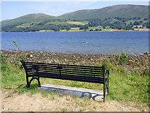 NS0570 : Bench overlooking the Kyles of Bute by Thomas Nugent