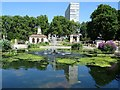 TQ2680 : Italian Gardens and Lancaster Gate Hotel by Philip Halling