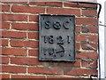 TG2309 : 23 Magdalen Street - parish boundary marker by Evelyn Simak
