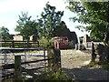 NY4645 : Yard and ruined barn near Barrowling by Oliver Dixon