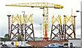 J3575 : Wind turbine parts, Harland & Wolff, Belfast - August 2018(1) by Albert Bridge