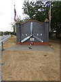 TL8527 : Monument at the entrance of Earls Colne Business Park by Adrian Cable