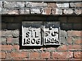 TG2208 : Westwick Street - parish boundary markers by Evelyn Simak
