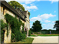 ST8663 : Along the east elevation of Great Chalfield Manor, Wiltshire by Brian Robert Marshall