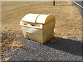 TL8527 : Grit Bin on Earls Colne Airfield Road by Adrian Cable