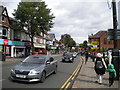 SP0782 : Queuing traffic on High Street, King's Heath by Richard Vince