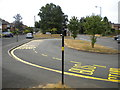 SP0780 : Bus turning circle, Alcester Lanes End (2) by Richard Vince