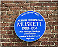 J3372 : AE Muskett plaque, Belfast (August 2018) by Albert Bridge