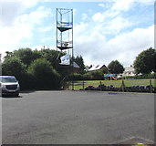 SN9768 : Rhayader Fire Station training tower by Jaggery