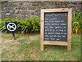 SH2328 : Warning Notice at Plas yn Rhiw by David Hillas