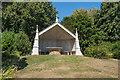 SU7817 : Gothic seat, Garden, Uppark by Ian Capper