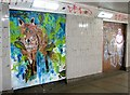 TG2208 : St Stephens underpass - jungle creature by Evelyn Simak