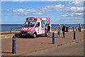 NU0051 : An ice cream van at Spittal by Walter Baxter