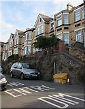 ST3288 : Houses above the east side of Morden Road, Newport by Jaggery