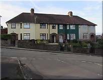 ST3288 : Row of four houses, Christchurch Road, Newport by Jaggery