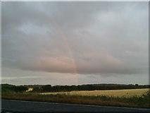 SP1713 : Rainbow by the A40, Windrush by David Howard