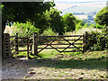 SU1833 : Gate, The Monarch's Way, west of Figsbury Ring by Brian Robert Marshall
