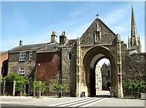 TG2308 : Norwich Cathedral - The Erpingham Gate by Evelyn Simak