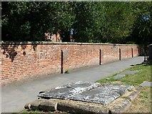 SK3616 : Vicarage garden wall, Ashby-de-la-Zouch by Alan Murray-Rust