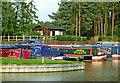 SP5972 : Crick Marina middle entrance, Northamptonshire by Roger  Kidd