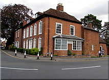 SP2871 : Red brick corner of Abbey End and Abbey Hill, Kenilworth by Jaggery