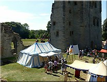 SK3616 : Ashby Castle – the eastern courtyard by Alan Murray-Rust