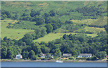NS0473 : Houses near Colintraive by Thomas Nugent