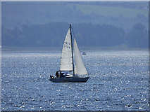 NS0472 : Yacht in the Kyles of Bute by Thomas Nugent