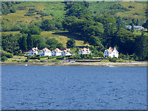 NS0373 : Houses at Altgaltraig Point by Thomas Nugent
