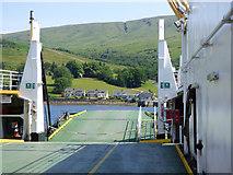 NS0274 : Ferry MV Loch Dunvegan at Rhubodach by Thomas Nugent
