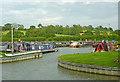 SP5972 : Crick Marina northern entrance, Northamptonshire by Roger  Kidd