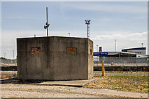 SJ3290 : WWII Cheshire: Defences of the Wirral, Alfred Dock pillbox, Wallasey (2) by Mike Searle