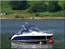 NS0178 : Boat moored in Loch Riddon by Thomas Nugent